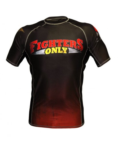 Fighters Only Rash Guard Short Sleeve Black