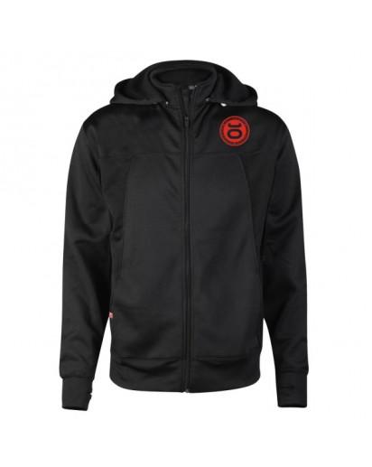 Jaco Team Convertible Hoodie/Jacket Black/Red