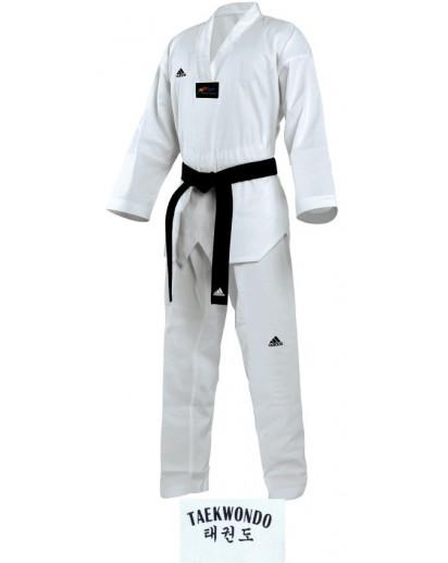Adidas Taekwondo Elite puku, valkoinen kaulus