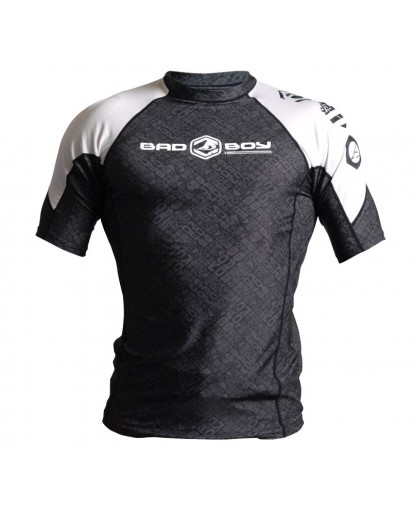 Bad Boy D'Arce Rash Guard Short Sleeve Black/White