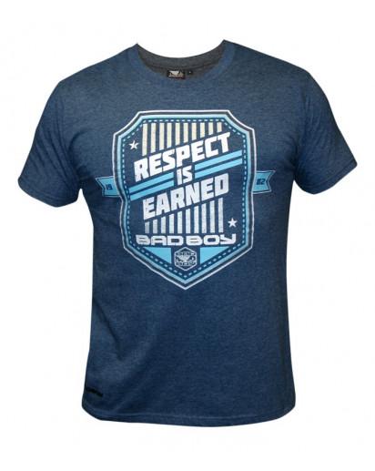 Bad Boy Shield T-shirt Heather Navy Blue