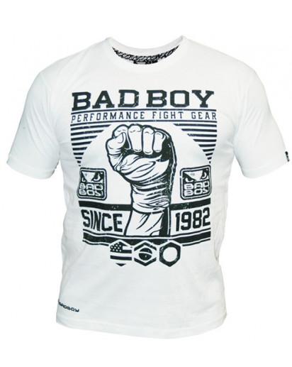 Edullinen Bad Boy First Design t-paita valkoinen