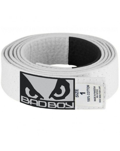 Bad Boy BJJ Belt White
