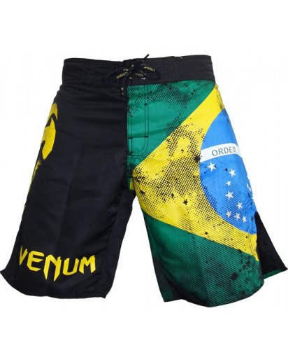 Venum Brazilian Flag Fightshorts Black