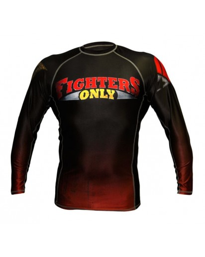 Fighters Only Rash Guard Long Sleeve Black