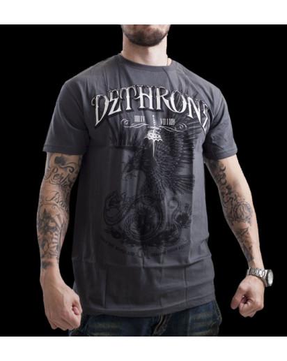 Dethrone Royalty Cain Eagle T-shirt Grey