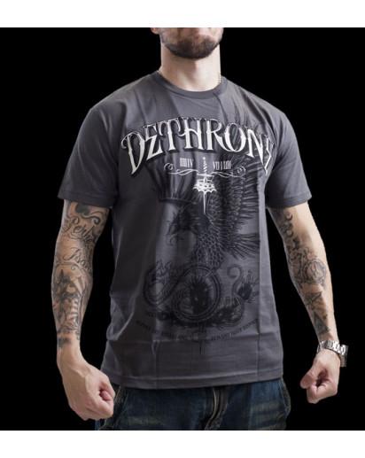 Dethrone Royalty Eagle Has Landed T-shirt Grey