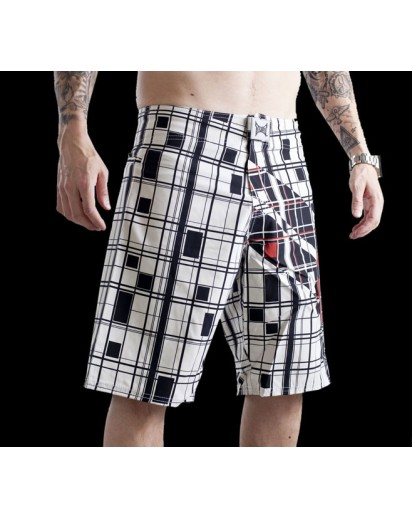 TapouT Super Stripe White Boardshorts