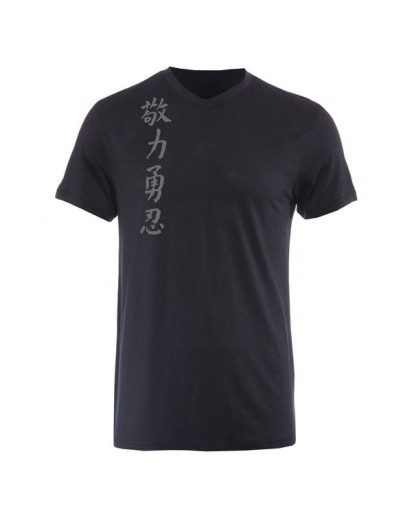 Jaco Kanji II Performance V Neck t-shirt Black