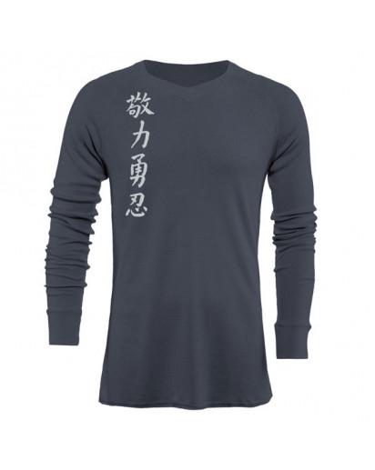 Jaco Kanji II V Neck Thermal Nubious Grey