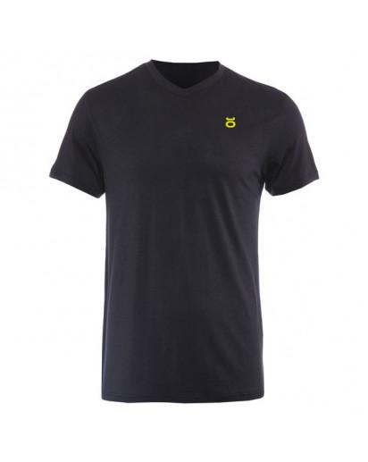 Jaco Tenacity Performance V Neck t-shirt Black/SugaFly Yellow
