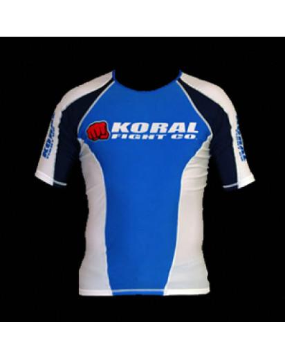 Koral Rash Guard Short Sleeve Blue