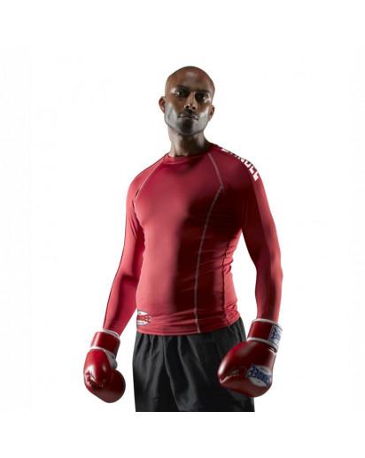 Sandee Basic Rash Guard Long Sleeve Red