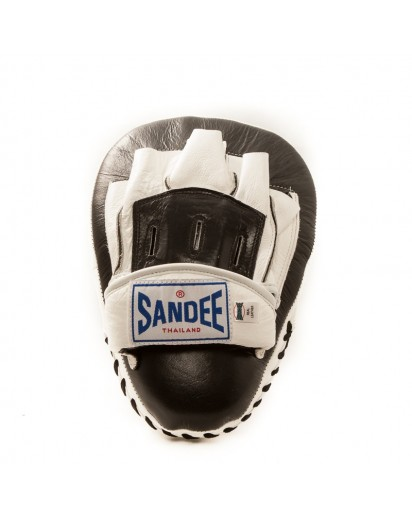 Sandee Curved Focus Mitts Black/White