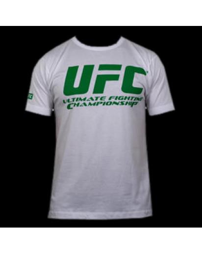 UFC Supporter White/Green t-paita