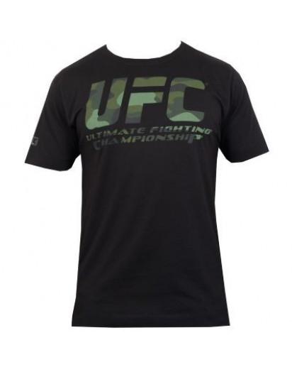 UFC Camo Logo Black tee