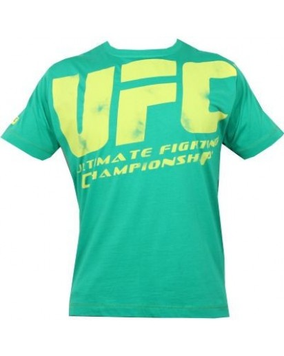 UFC Distressed Green/Yellow tee