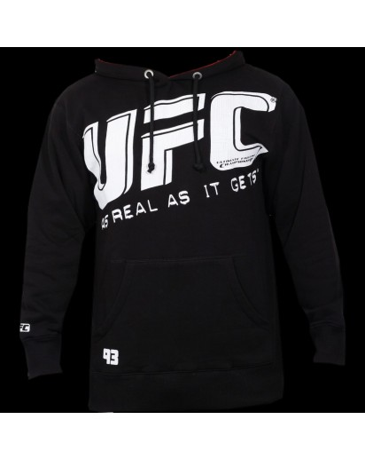 UFC Slant Hoodie Black