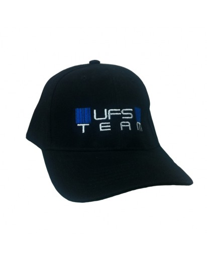 UFS Team Cap Black lippis