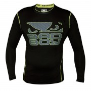 Bad Boy Carbon Rash Guard Long Sleeve Black/Neon Yellow