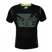 Bad Boy Carbon Rash Guard Short Sleeve Black/Neon Yellow