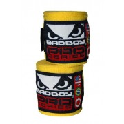 Bad Boy Hand Wraps Stretch 3,5 m yellow käsisiteet (pari)