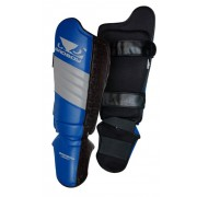 Bad Boy Legacy Thai Shin Guards jalkasuojat Musta/Sininen/Harmaa