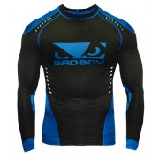 Bad Boy Sphere Compression Top Long Sleeve Black/Blue Painipaita