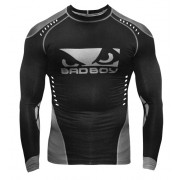 Bad Boy Sphere Compression Top Long Sleeve Black/Grey Rash Guard