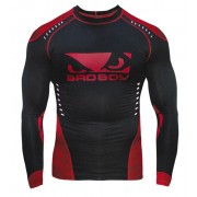 Bad Boy Sphere Compression Top Long Sleeve Black/Red Painipaita