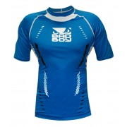 Bad Boy Sphere Compression Top Short Sleeve Blue/White Rashguard