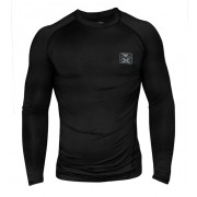 Bad Boy X-Fit Onyx Compression Top Long Sleeve Kompressiopaita Musta Harmaa