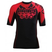 Bad Boy Grinder Rash Guard Short Sleeve Red