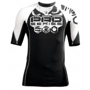 Bad Boy Grinder Rash Guard Short Sleeve White