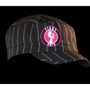 Fight Chix Black Pinstrip Military Style Cap