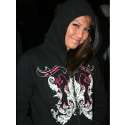Fight Chix Queen Hoodie Black