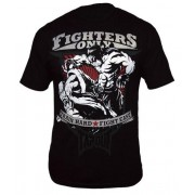 Fighters Only Flying Knee T-shirt Black