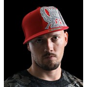 Silver Star Inner Plaid Hat red