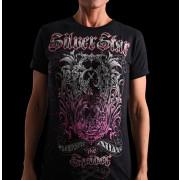 Silver Star Womens Jrs Silva 2 Black t-shirt