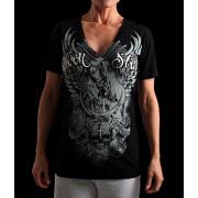 Silver Star Womens Jrs Sanctuary V-neck Black t-shirt