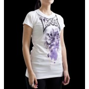 TapouT Womens Escape Crew Neck White t-shirt
