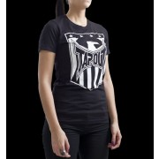 TapouT Womens Shield Logo Crew Neck Black t-shirt