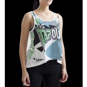 TapouT Womens Geomatic Jersey Top White