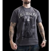 Dethrone Royalty Eagle Has Landed T-shirt Grey