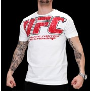 UFC Real White/Red t-paita