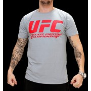 UFC Supporter Grey/Red t-paita