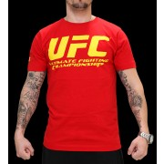 UFC Supporter Red/Yellow t-paita