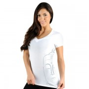 Jaco Womens Buddha Performance V Neck t-shirt White