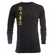 Jaco Kanji II V Neck Thermal Black/SugaFly Yellow