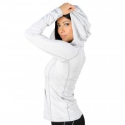 Jaco Womens Hooded Henley Moonlight Grey
